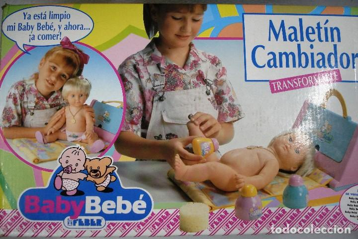 Muñecas Españolas Modernas: BABYBEBÉ: MALETÍN CAMBIADOR CONVERTIBLE BABYBEBÉ. DE FEBER ¡NUEVO, ORIGINAL!CAJA IMPECABLE. AÑOS 90. - Foto 2 - 99280091