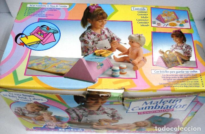 Muñecas Españolas Modernas: BABYBEBÉ: MALETÍN CAMBIADOR CONVERTIBLE BABYBEBÉ. DE FEBER ¡NUEVO, ORIGINAL!CAJA IMPECABLE. AÑOS 90. - Foto 3 - 99280091