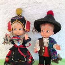 Muñecas Españolas Modernas: ANTIGUA PAREJA DE MUÑECOS MUÑECA REGIONALES MUY DIFÍCILES PRECIOSOS 21CM. Lote 99673663