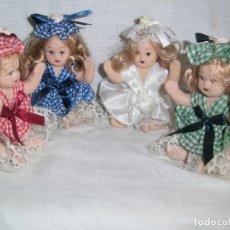 Muñecas Españolas Modernas: 4 MUÑECAS MINIATURA DE PORCELANA MIDEN 9 CM DE ALTO. Lote 101153035