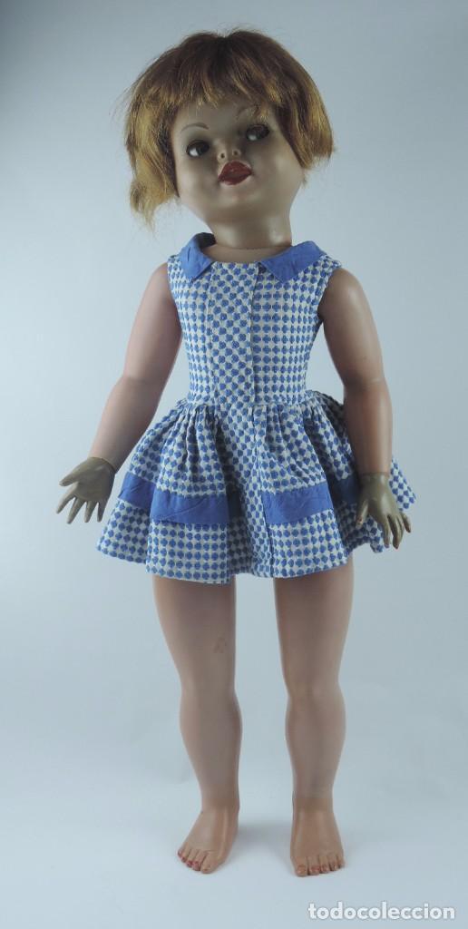 Muñecas Españolas Modernas: Antigua muñeca GIOVANNA de Jesmar años 50, es de celuloide y pelo natural, ojos durmientes. Mide, 72 - Foto 2 - 101846131