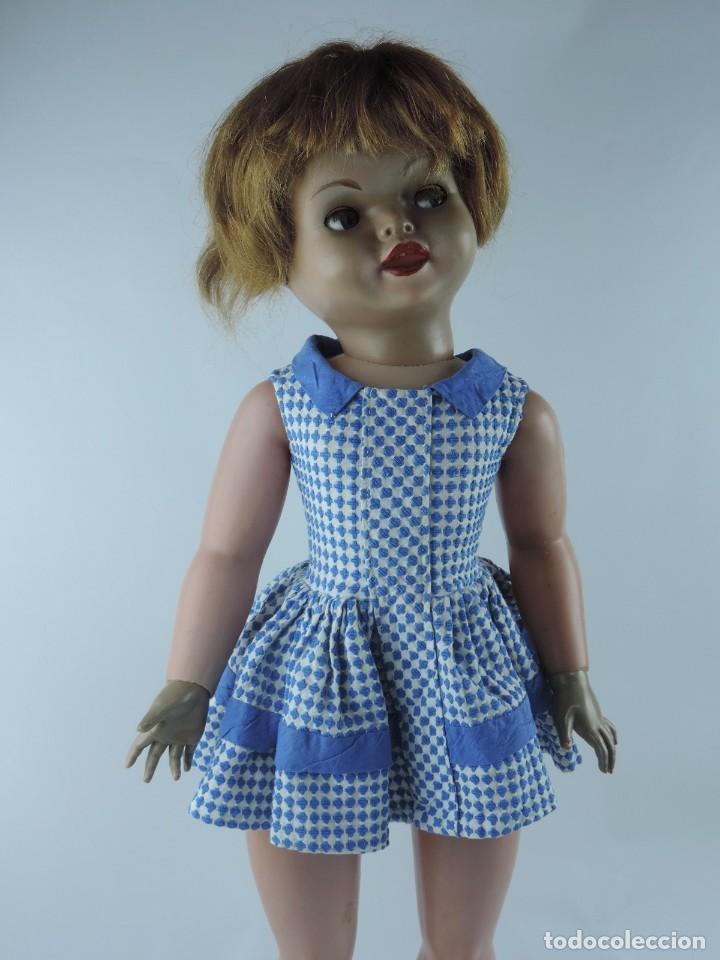 Muñecas Españolas Modernas: Antigua muñeca GIOVANNA de Jesmar años 50, es de celuloide y pelo natural, ojos durmientes. Mide, 72 - Foto 3 - 101846131