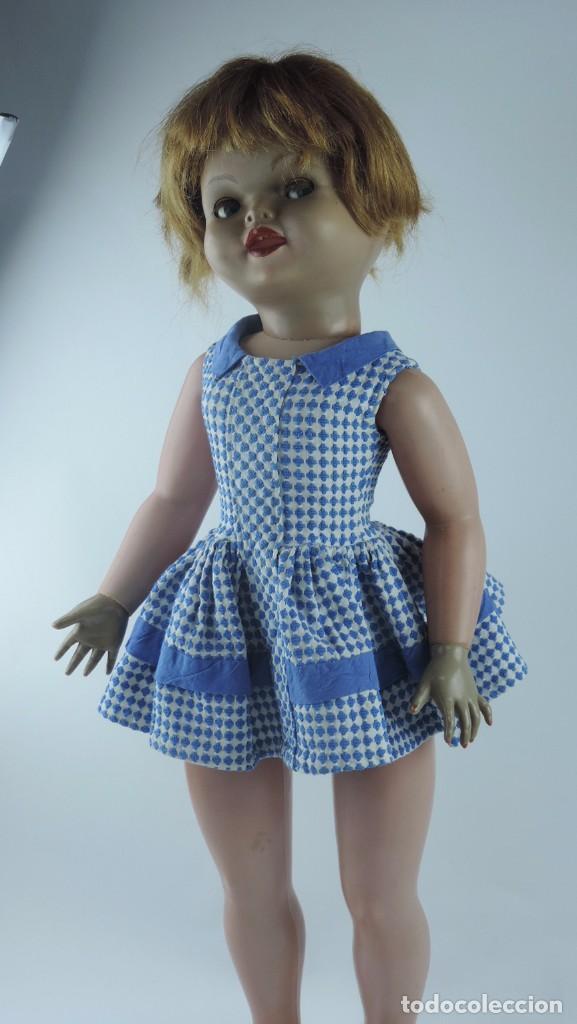 Muñecas Españolas Modernas: Antigua muñeca GIOVANNA de Jesmar años 50, es de celuloide y pelo natural, ojos durmientes. Mide, 72 - Foto 4 - 101846131