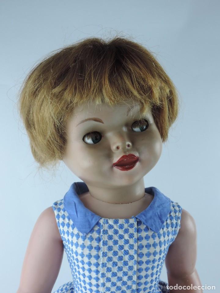 Muñecas Españolas Modernas: Antigua muñeca GIOVANNA de Jesmar años 50, es de celuloide y pelo natural, ojos durmientes. Mide, 72 - Foto 6 - 101846131