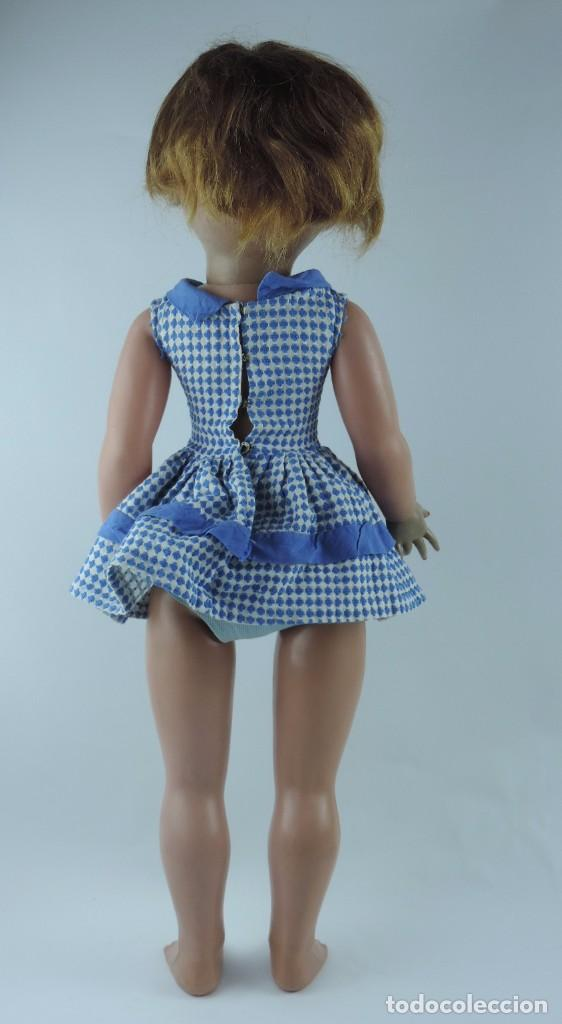 Muñecas Españolas Modernas: Antigua muñeca GIOVANNA de Jesmar años 50, es de celuloide y pelo natural, ojos durmientes. Mide, 72 - Foto 7 - 101846131