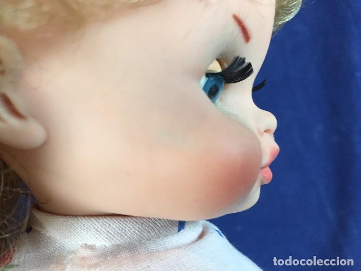 Muñecas Españolas Modernas: muñeca española caja ojos azules sin marca años 60 pantalon camiseta pelo rubio S XX 44 cm - Foto 19 - 102350175
