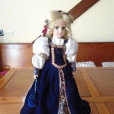 Muñecas Españolas Modernas: MUÑECA DE PORCELANA PRINCESA RAPUNZEL. Lote 103166615