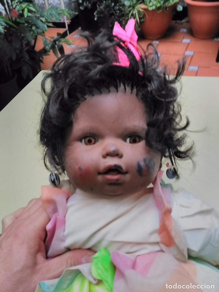 Muñecas Españolas Modernas: muñeca negra - cuerpo de trapo - 50cm - Foto 2 - 104703827