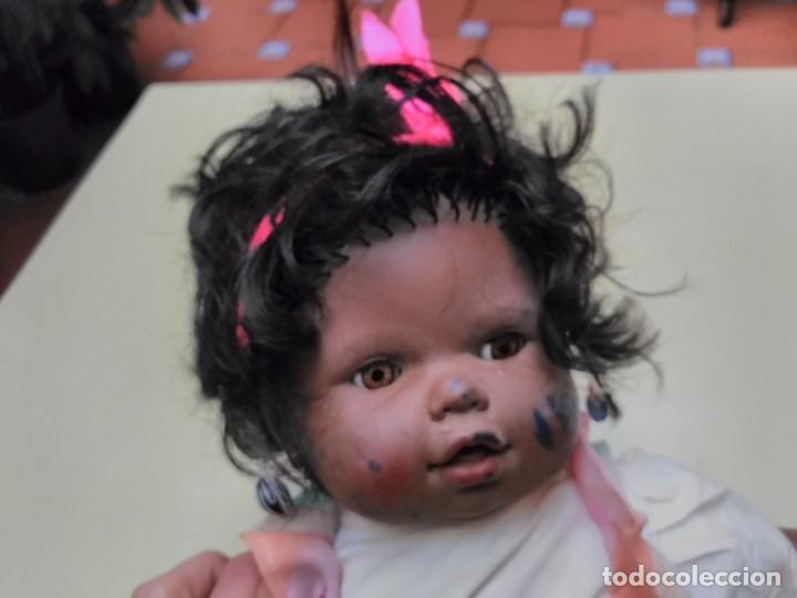 Muñecas Españolas Modernas: muñeca negra - cuerpo de trapo - 50cm - Foto 3 - 104703827
