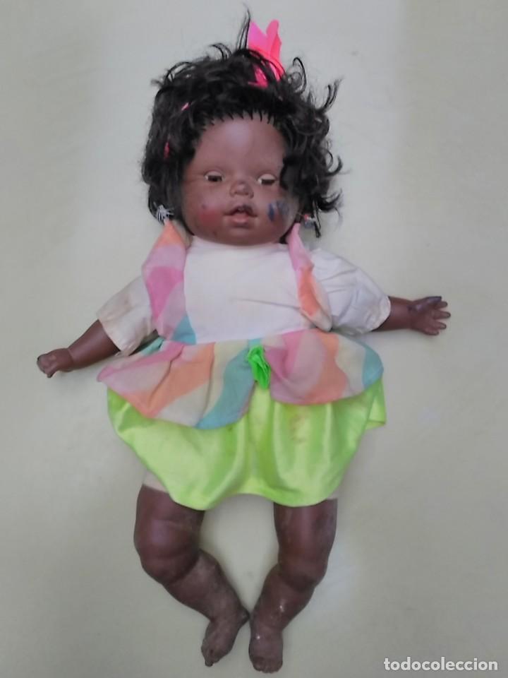 Muñecas Españolas Modernas: muñeca negra - cuerpo de trapo - 50cm - Foto 5 - 104703827