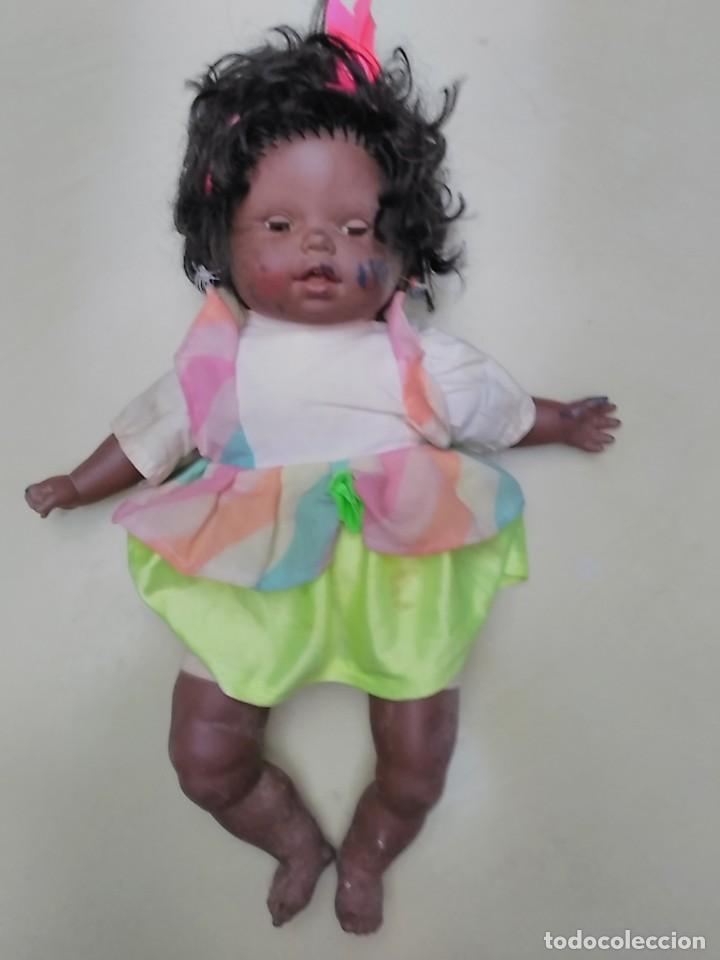 Muñecas Españolas Modernas: muñeca negra - cuerpo de trapo - 50cm - Foto 10 - 104703827