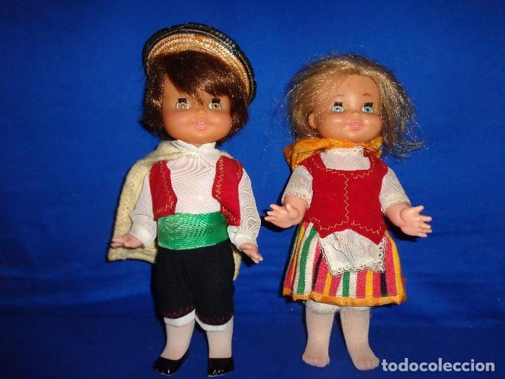 Muñecas Españolas Modernas: REGIONALES - PAREJA DE MUÑECAS REGIONALES SIN MARCA ALGUNA MIDEN UNOS 31 CM VER FOTOS! SM - Foto 2 - 104779155