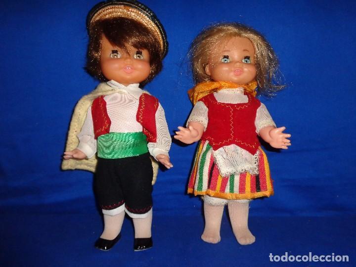 Muñecas Españolas Modernas: REGIONALES - PAREJA DE MUÑECAS REGIONALES SIN MARCA ALGUNA MIDEN UNOS 31 CM VER FOTOS! SM - Foto 3 - 104779155
