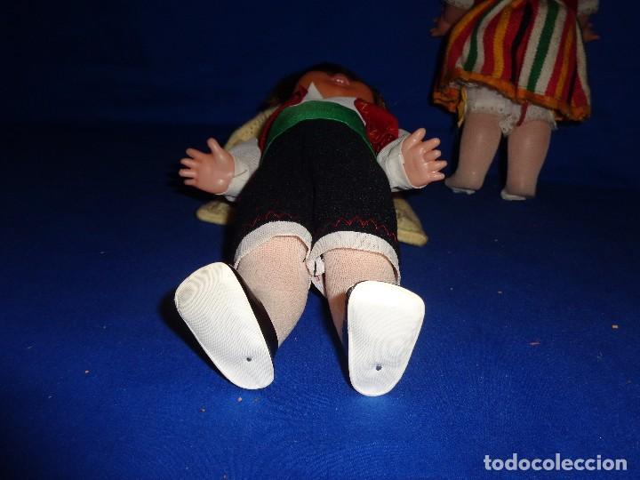 Muñecas Españolas Modernas: REGIONALES - PAREJA DE MUÑECAS REGIONALES SIN MARCA ALGUNA MIDEN UNOS 31 CM VER FOTOS! SM - Foto 11 - 104779155