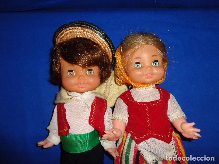 Muñecas Españolas Modernas: REGIONALES - PAREJA DE MUÑECAS REGIONALES SIN MARCA ALGUNA MIDEN UNOS 31 CM VER FOTOS! SM - Foto 13 - 104779155