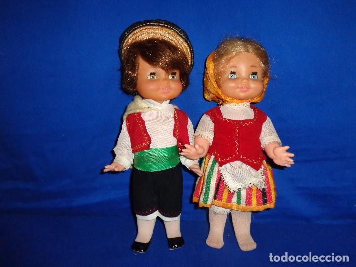 Muñecas Españolas Modernas: REGIONALES - PAREJA DE MUÑECAS REGIONALES SIN MARCA ALGUNA MIDEN UNOS 31 CM VER FOTOS! SM - Foto 14 - 104779155