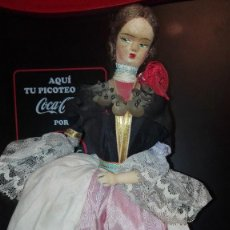 Muñecas Españolas Modernas: MUÑECA ANTIGUA GIRA A AMBOS LADOS MUSICAL FUNCIONA. Lote 105261295