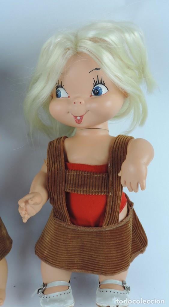 Muñecas Españolas Modernas: Antiguo Muñeco Rabanito y muñeca Floreal, de Creaciones Fulgir, realizadas en plastico duro, Miden 3 - Foto 3 - 109351363
