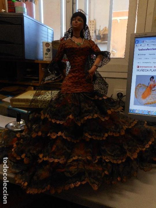 Muñecas Españolas Modernas: muñeca flamenca de marin - Foto 4 - 163888960