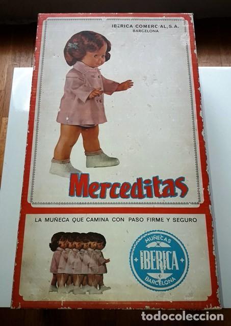 Muñecas Españolas Modernas: MUÑECA ANDADORA, MERCEDITAS, EN SU CAJA ORIGINAL 1964 - Foto 2 - 110804395
