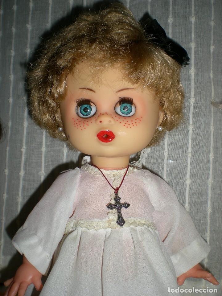 Muñecas Españolas Modernas: graciosa y rara muñeca sin marca 34 cm made in spain años 70 - Foto 6 - 115043939