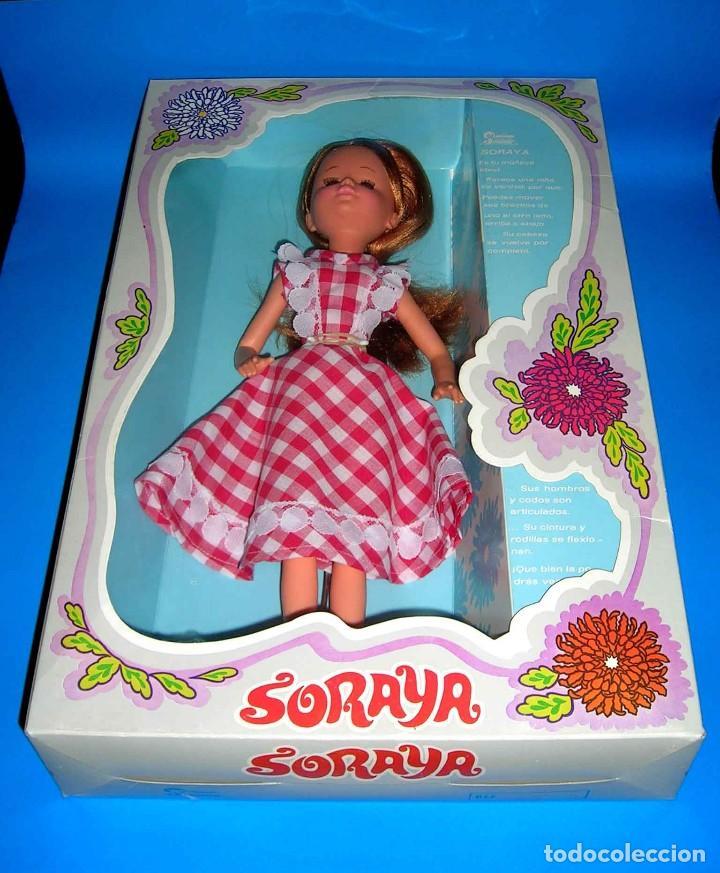 Muñecas Españolas Modernas: Muñeca Soraya fabricada por la casa Jesmar, original año 1975. A estrenar con su caja. - Foto 8 - 115975843