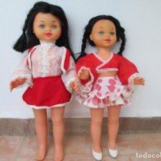 Muñecas Españolas Modernas: LOTE DE 2 MUÑECAS MAJBER, KATIA Y SONIA, CAUDETE- ALBACETE. DECADA DE LOS 60.. Lote 117565011