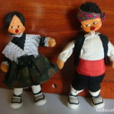 Muñecas Españolas Modernas: PAREJA DE MUÑECOS DE TRAPO MAÑICOS. Lote 118224143
