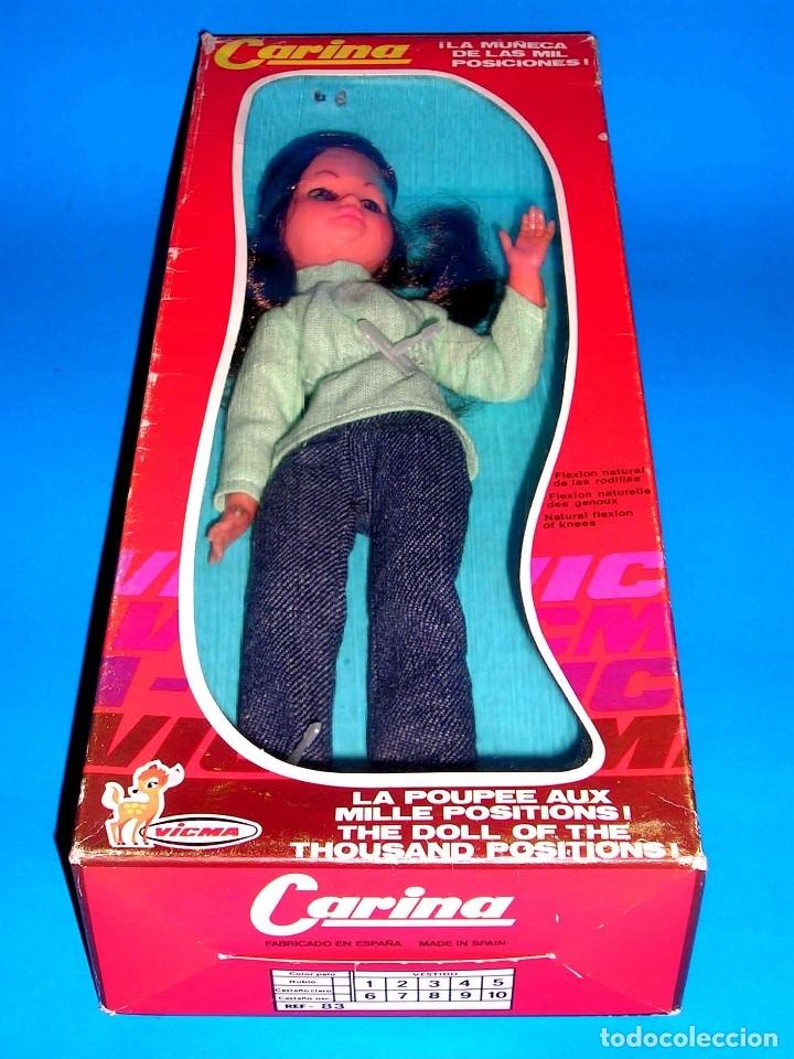 Muñecas Españolas Modernas: Muñeca Carina fabricada por la casa Vicma, original año 1976. A estrenar con su caja. - Foto 8 - 122726858