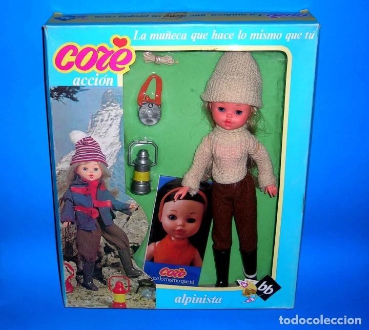 MUÑECA CORE RUBIA ALPINISTA DE BB ORIGINAL AÑOS 70. A ESTRENAR CON SU CAJA Y CATÁLOGO. (Spielzeug - Andere moderne spanische Puppen)