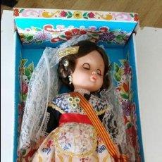 Muñecas Españolas Modernas: MUÑECA REGIONAL VALENCIANA DE PSS, IBI ALICANTE AÑOS 70 MUÑECA HECHA EN ALICANTE POR PSS.. Lote 125207483