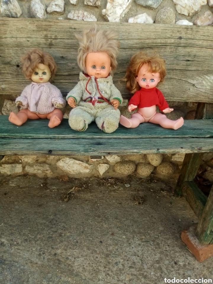 Muñecas Españolas Modernas: Lote de 3 muñecas Antiguas. - Foto 2 - 131734866