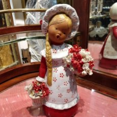 Muñecas Españolas Modernas: MUÑECA DE CERÁMICA JULLAR HECHA EN ESPAÑA A MANO. Lote 136444862