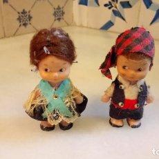 Muñecas Españolas Modernas: MUÑECA Y MUÑECO MAÑOS O ARAGONESES CON VESTIDOS TRADICIONALES. MUÑECOS. Lote 142525014