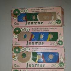 Muñecas Españolas Modernas: 4 CAJAS DISCOS JESMAR. Lote 143901321