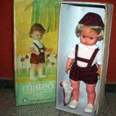 Muñecas Españolas Modernas: ANTIGUO MUÑECO MATEO - NOVO GAMA - EN SU CAJA ORIGINAL - AÑOS 70. Lote 144008882