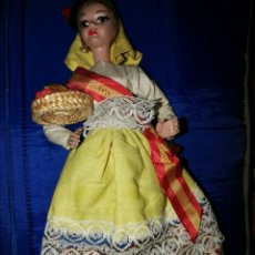 Muñecas Españolas Modernas: MUÑECA ARTESANA BEIBI. CANARIA CON TRAJE REGIONAL. 20 CM.- PLASTICO DURO. Lote 148724302