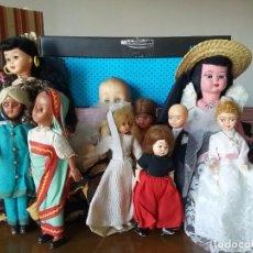 Muñecas Españolas Modernas: LOTE MUÑECAS ANTIGUAS. Lote 150378234