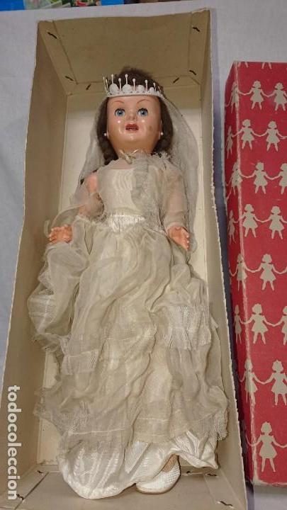 Muñecas Españolas Modernas: ANTIGUA MUÑECA TERESIN NOVIA DE EDA ENRIQUE DURA AMOROS - AÑOS 50 - Foto 4 - 151525514