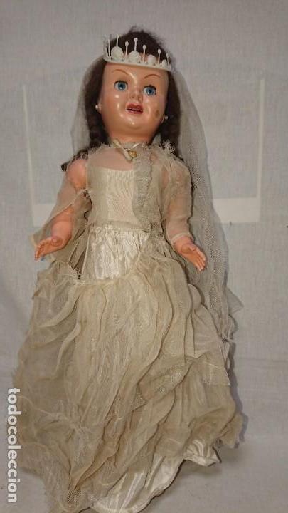 Muñecas Españolas Modernas: ANTIGUA MUÑECA TERESIN NOVIA DE EDA ENRIQUE DURA AMOROS - AÑOS 50 - Foto 5 - 151525514