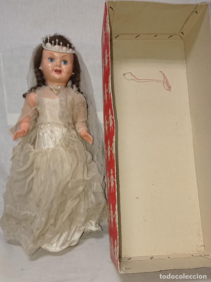 Muñecas Españolas Modernas: ANTIGUA MUÑECA TERESIN NOVIA DE EDA ENRIQUE DURA AMOROS - AÑOS 50 - Foto 3 - 151525514