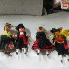 Muñecas Españolas Modernas: LOTE 4 MUÑECAS REGIONALES DE 9 CM ALTURA MUÑECA REGIONAL. Lote 153364298