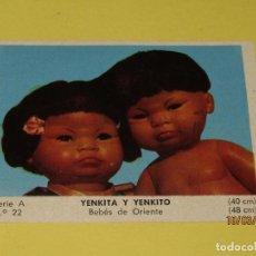 Muñecas Españolas Modernas: CROMO SERIE A Nº 22 COLECCIÓN MODELOS 1965 YENKITA Y YENKITO DE MUÑECAS ICSA IBERICA COMERCIAL SA. Lote 154726794