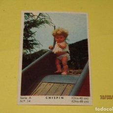 Muñecas Españolas Modernas: CROMO SERIE A Nº 14 COLECCIÓN MODELOS 1965 CHISPIN DE MUÑECAS ICSA IBERICA COMERCIAL SA. Lote 154727490
