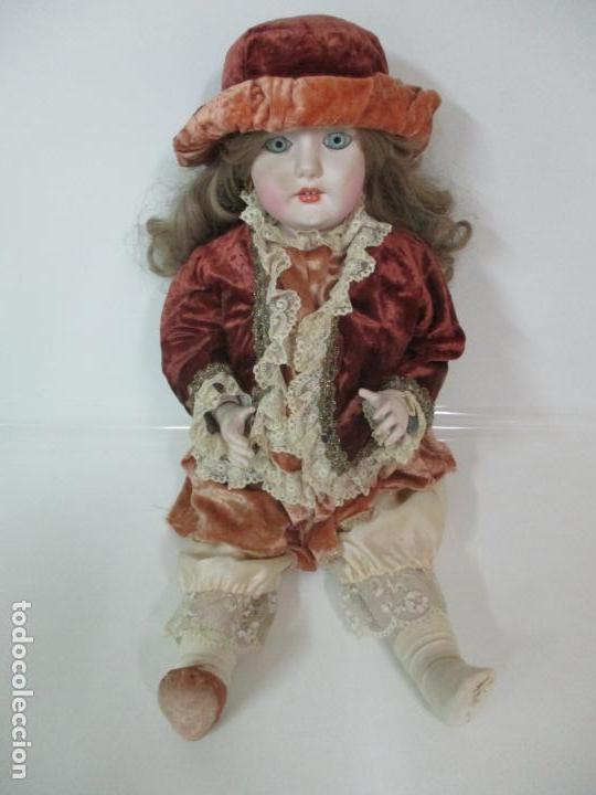 Muñecas Españolas Modernas: Bonita Muñeca Ramón Ingles - Porcelana Biscuit, Cuerpo Cartón Piedra - Cabello Natural -70 cm Altura - Foto 2 - 154918002