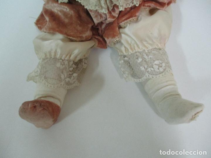Muñecas Españolas Modernas: Bonita Muñeca Ramón Ingles - Porcelana Biscuit, Cuerpo Cartón Piedra - Cabello Natural -70 cm Altura - Foto 3 - 154918002