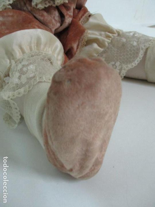 Muñecas Españolas Modernas: Bonita Muñeca Ramón Ingles - Porcelana Biscuit, Cuerpo Cartón Piedra - Cabello Natural -70 cm Altura - Foto 4 - 154918002