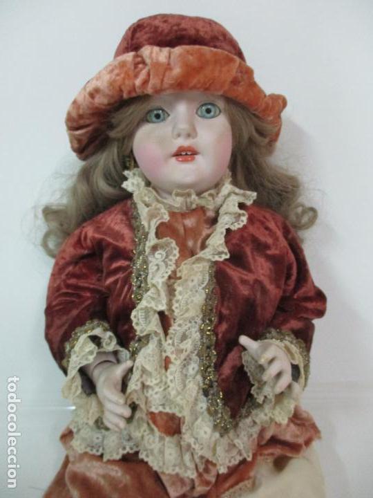 Muñecas Españolas Modernas: Bonita Muñeca Ramón Ingles - Porcelana Biscuit, Cuerpo Cartón Piedra - Cabello Natural -70 cm Altura - Foto 8 - 154918002