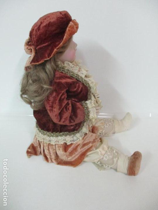 Muñecas Españolas Modernas: Bonita Muñeca Ramón Ingles - Porcelana Biscuit, Cuerpo Cartón Piedra - Cabello Natural -70 cm Altura - Foto 15 - 154918002