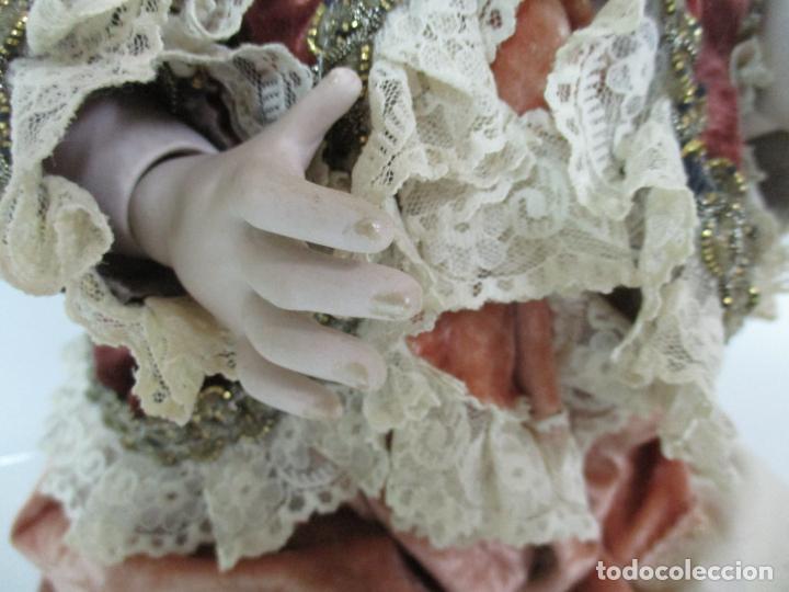Muñecas Españolas Modernas: Bonita Muñeca Ramón Ingles - Porcelana Biscuit, Cuerpo Cartón Piedra - Cabello Natural -70 cm Altura - Foto 16 - 154918002